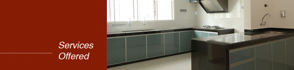 Service Offered Gold Well Aluminium Trading Aluminium Kitchen Cabinet Des